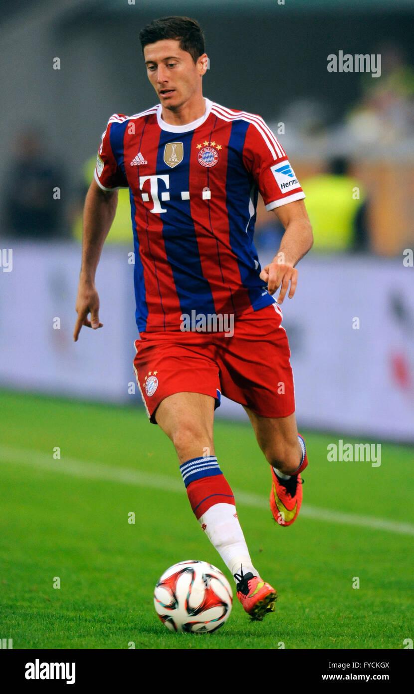 51fb932f5ea Robert Lewandowski, FC Bayern Munich, at a charity match, MSV Duisburg 1 vs