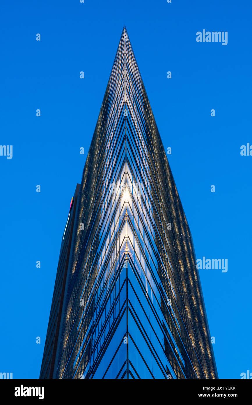 Renzo Piano high-rise building, Potsdamer Platz square, Berlin, Germany - Stock Image