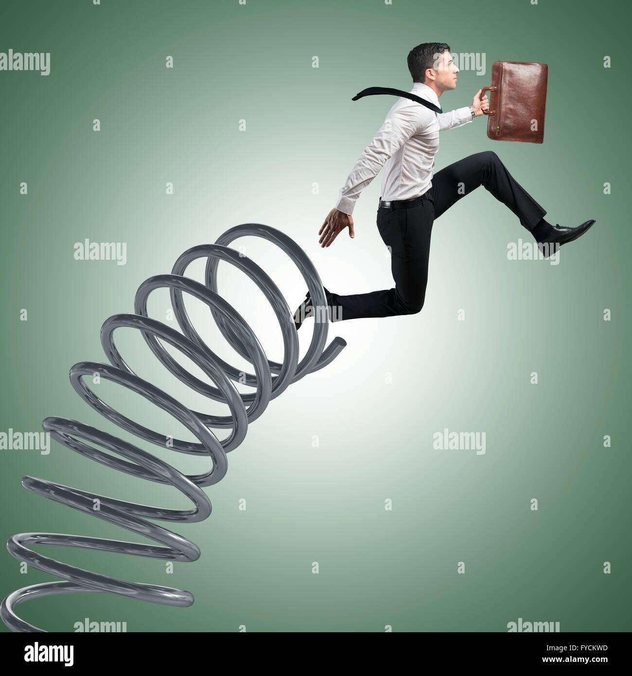 Fast businessman - Stock Image