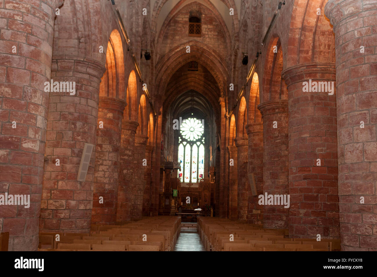 An image of St Magnus Cathedral inside - Stock Image