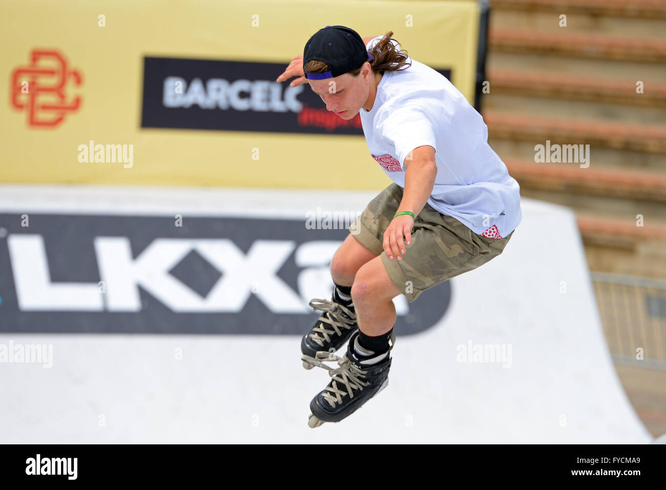 BARCELONA - JUN 28: A professional skater at the Inline