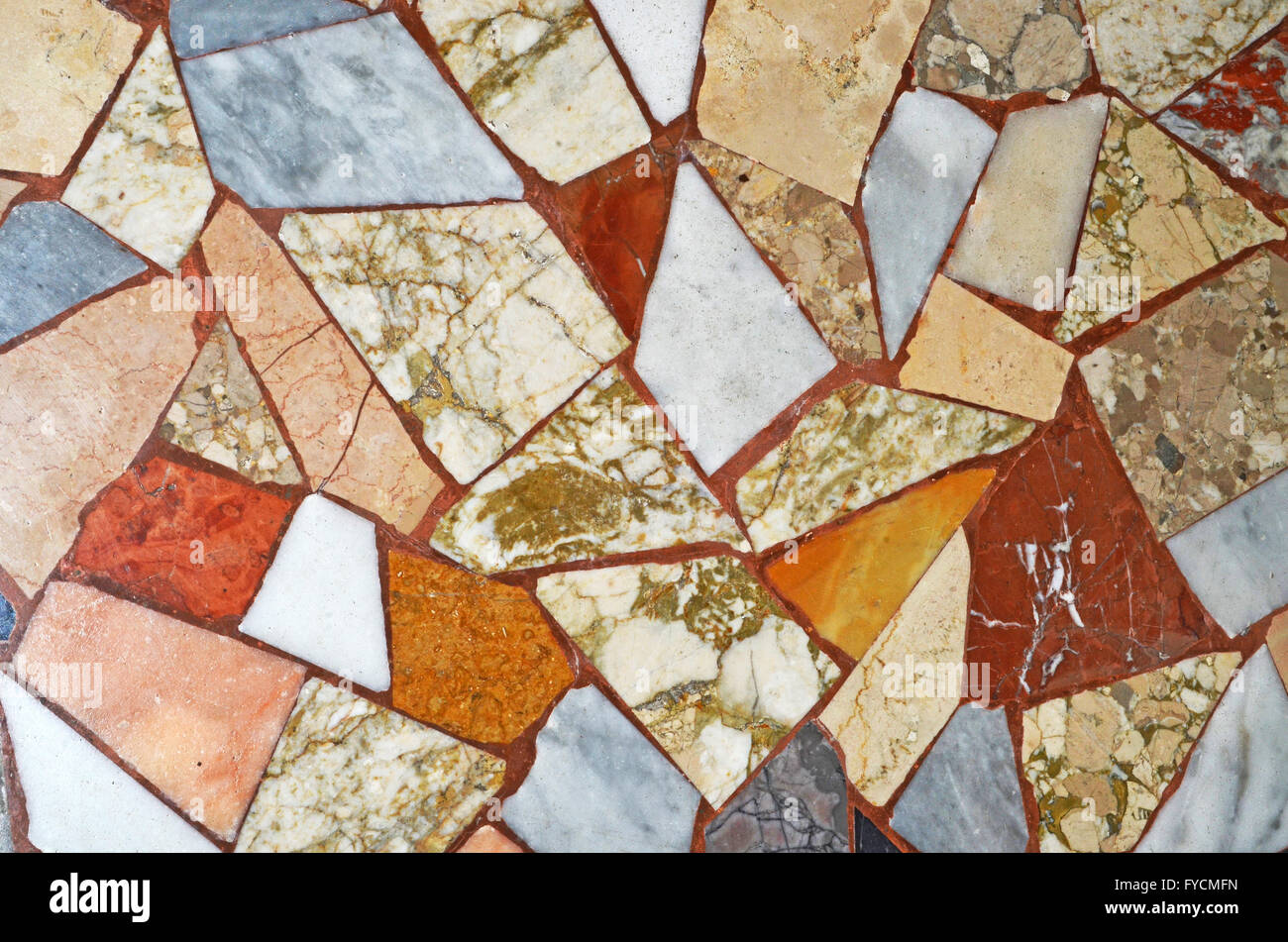 marble mosaic pattern background - Stock Image