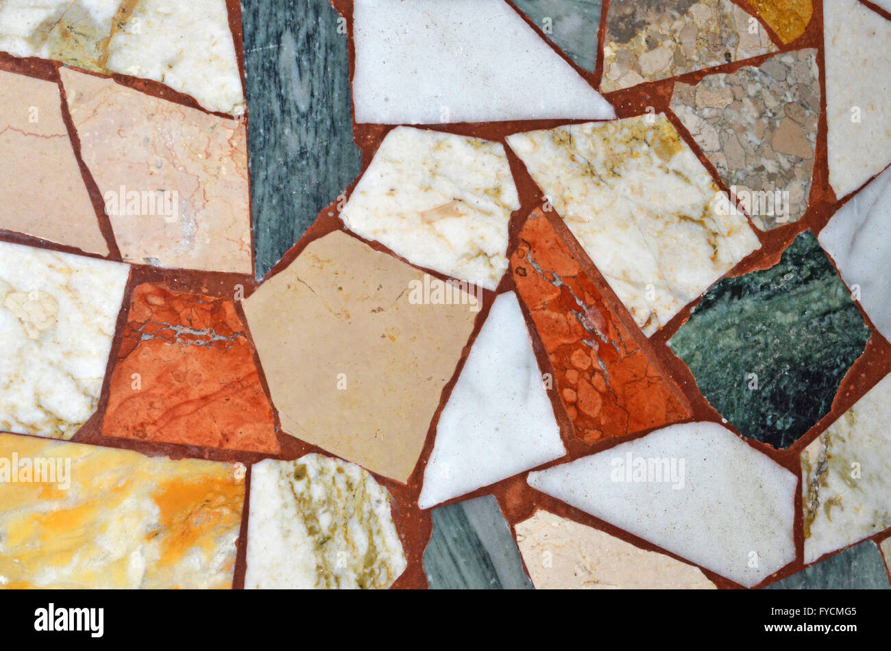 mosaic of marble floor - Stock Image