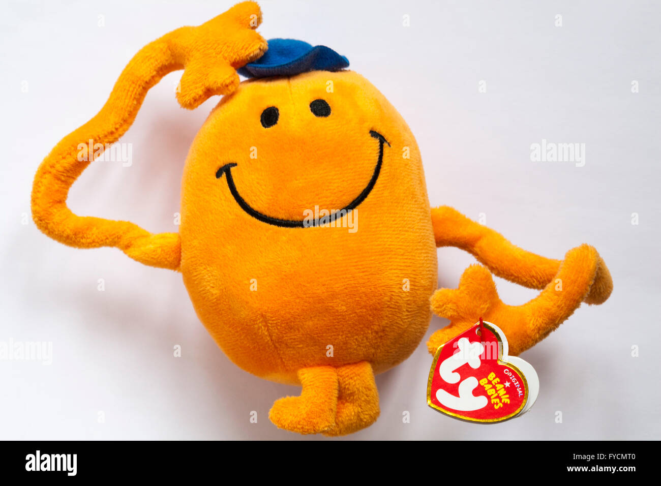 c3f4c3cdeb1 TY original beanie babies Mr Tickle soft cuddly toy from the Mr Men series  isolated on