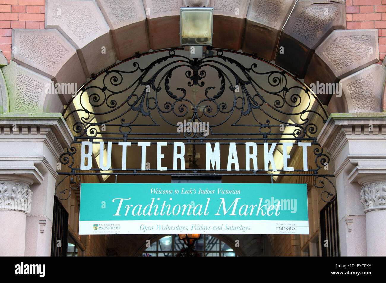 Victorian Butter Market in the Staffordshire town of Leek - Stock Image