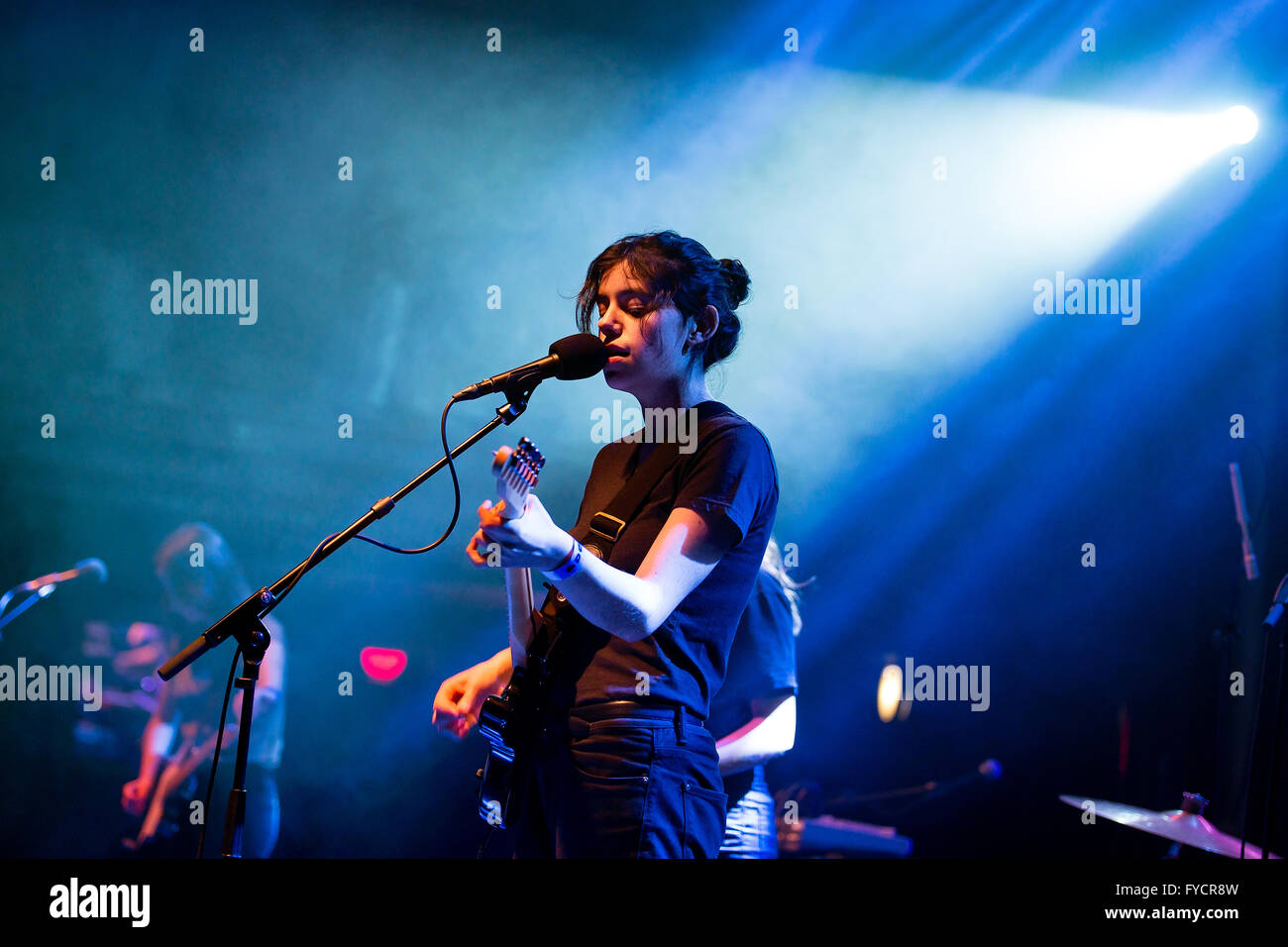 BARCELONA - FEB 8: Mourn (band) performs at Apolo venue on February 8, 2015 in Barcelona, Spain. - Stock Image