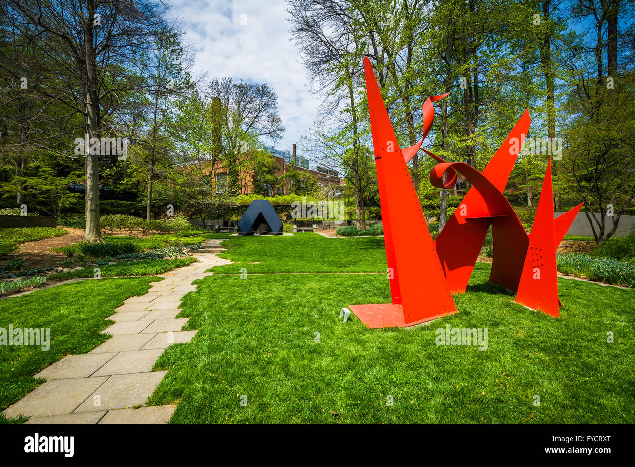The Sculpture Garden at the Baltimore Museum of Art, in Baltimore, Maryland. - Stock Image