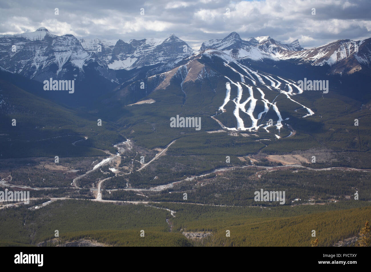 nakiska ski hill in kananaskis country (alberta, canada stock photo