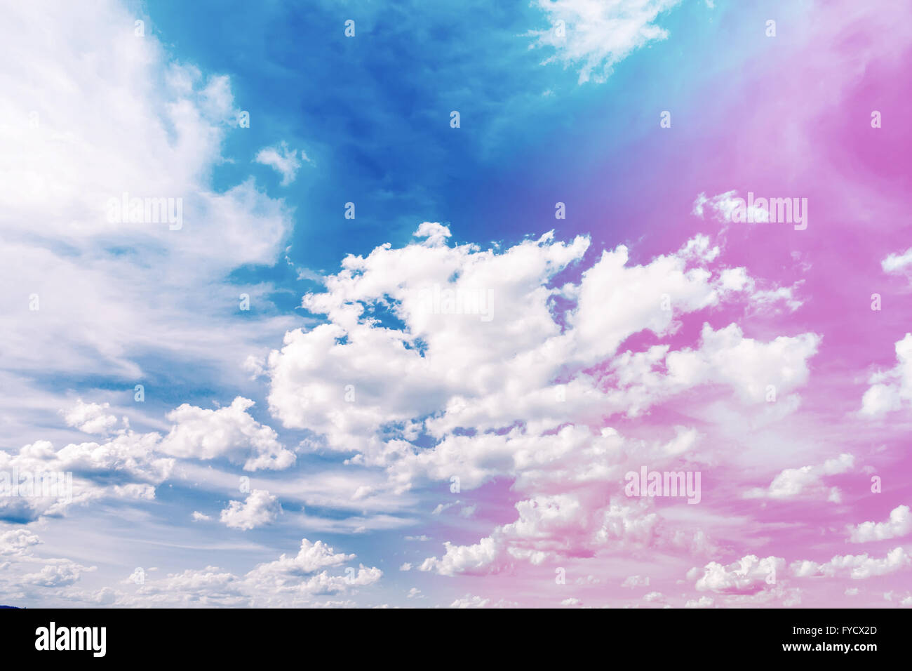 Spring Or Summer Blue Sky With Clouds In In Rose Quartz And Serenity