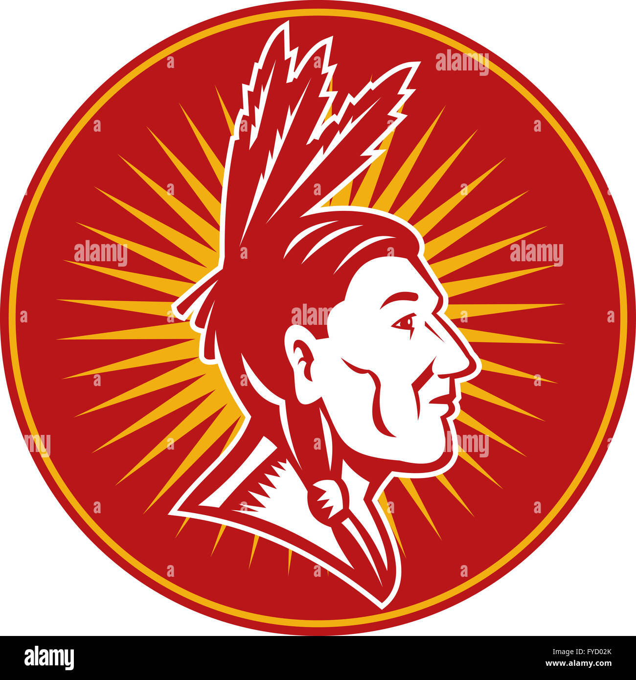 native American indian chief - Stock Image