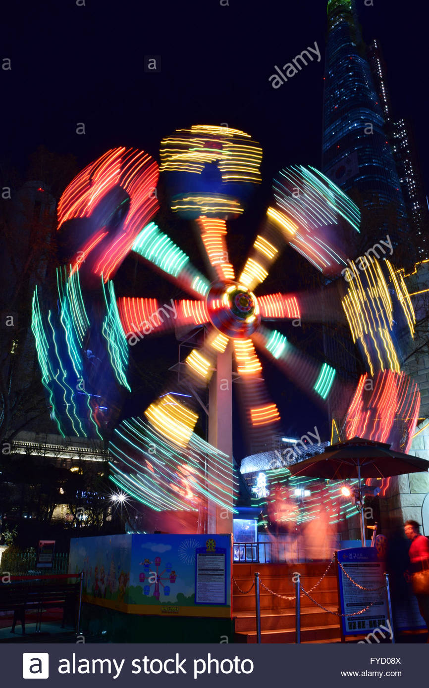 rides of Lotte World amusement park - Stock Image