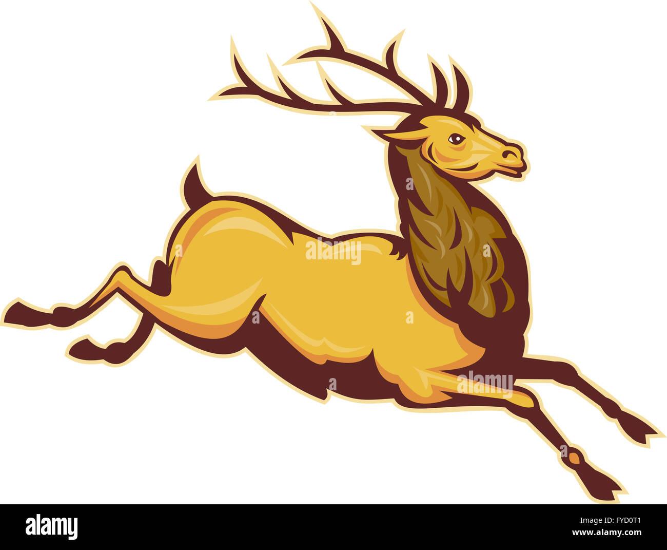 Jumping Deer Stock Photos & Jumping Deer Stock Images - Alamy