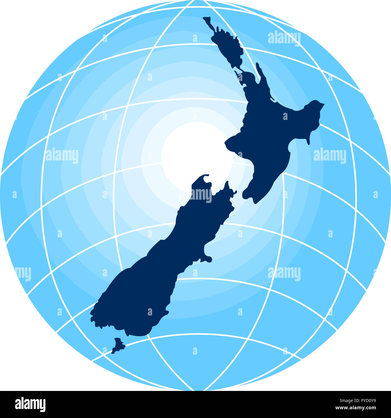 Map of new zealand with globe in background stock photo 102933693 map of new zealand with globe in background gumiabroncs Image collections