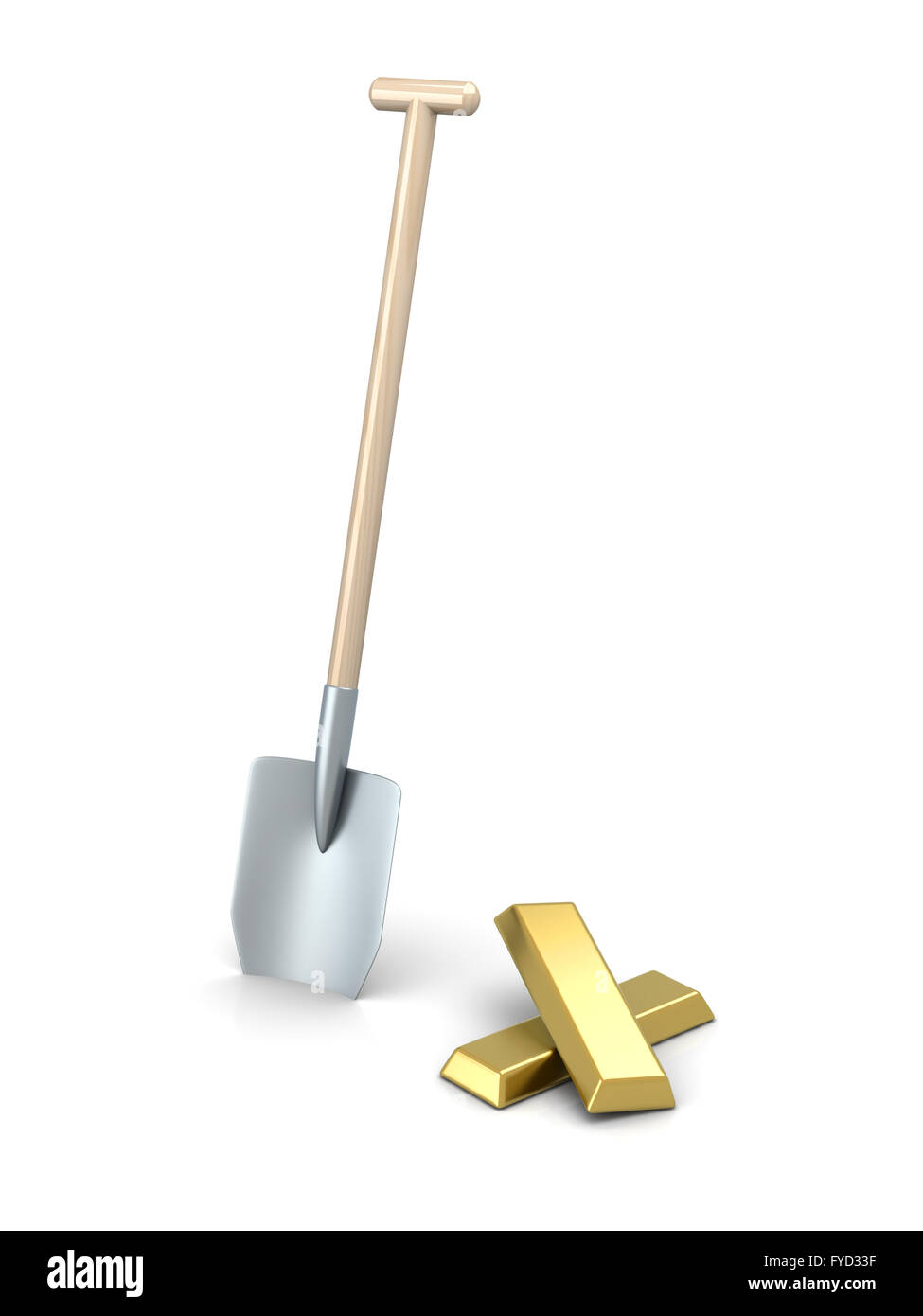 Gold Mining - Stock Image