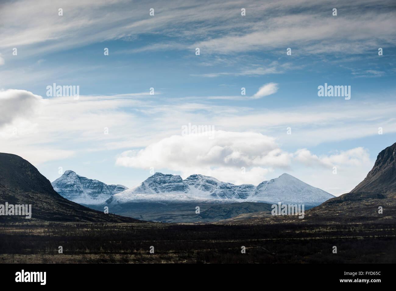 Fjeld landscape. Rondane, Norway - Stock Image