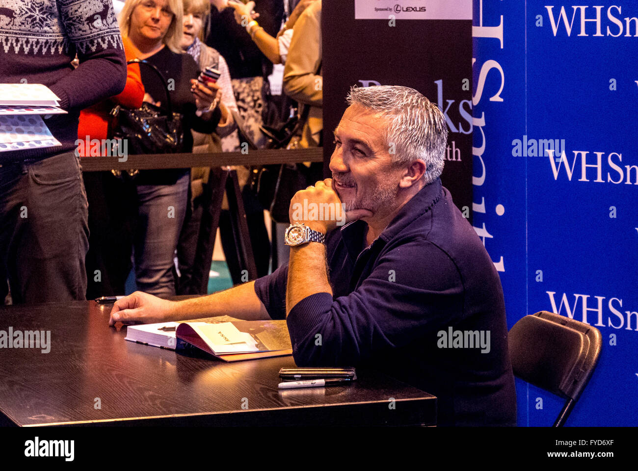 Paul Hollywood, celebrity appearance at W.H. Smith book signing event, UK. - Stock Image