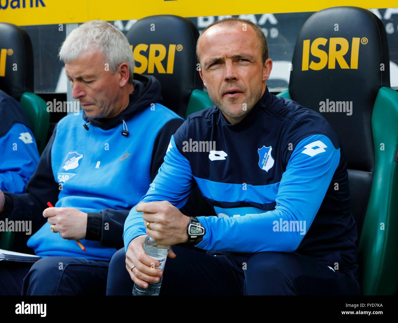 sports, football, Bundesliga, 2015/2016, Borussia Moenchengladbach versus TSG 1899 Hoffenheim 3:1, Stadium Borussia - Stock Image