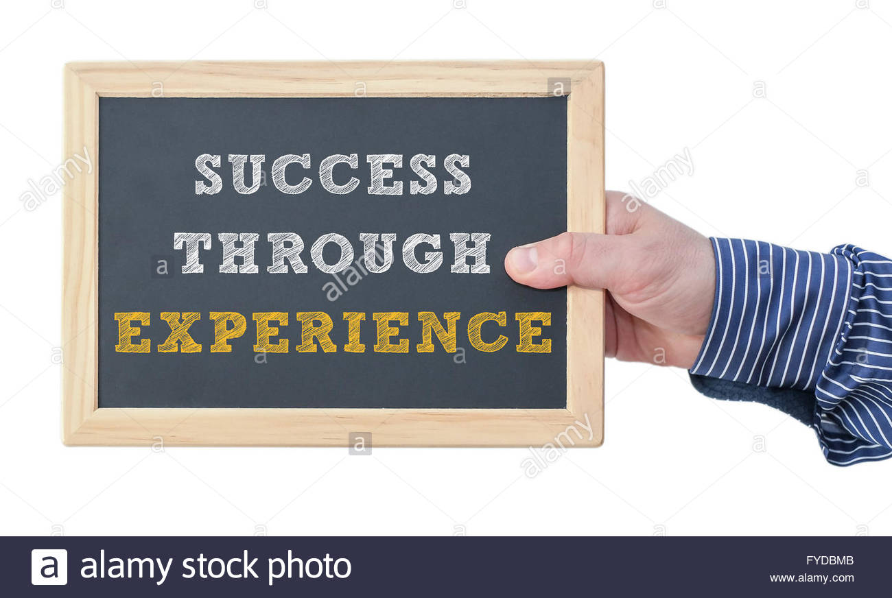 success through experience - Stock Image