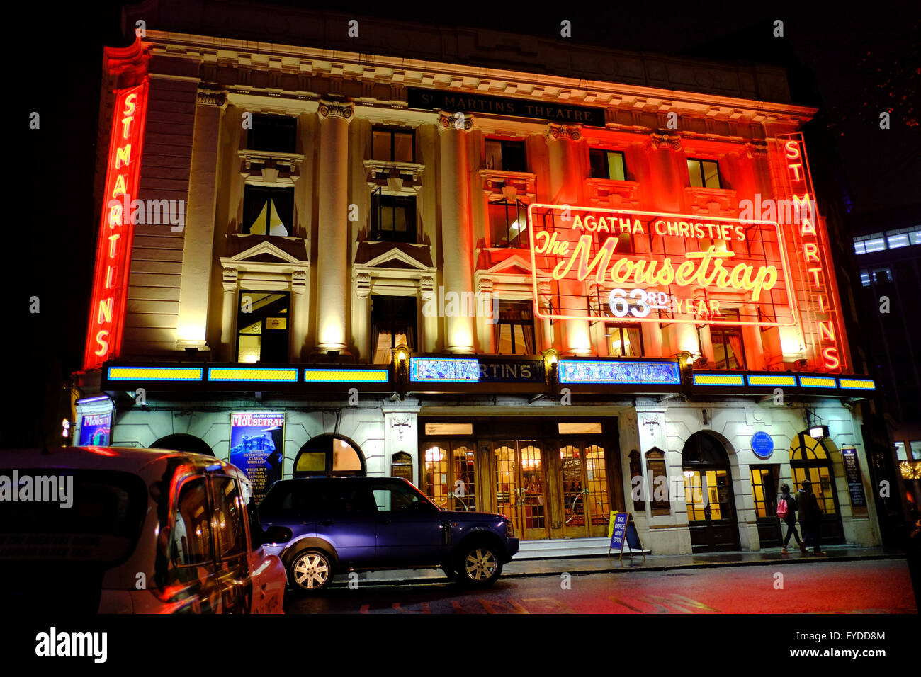 St Martins Theater showing Agatha Christies 'The Mousetrap' in London - Stock Image