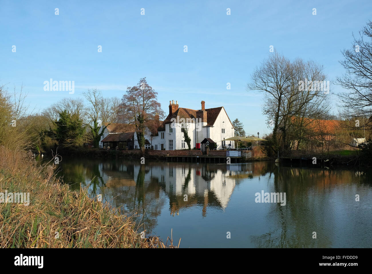 The Riverside Pub, Bedford, Bedfordshire, England - Stock Image