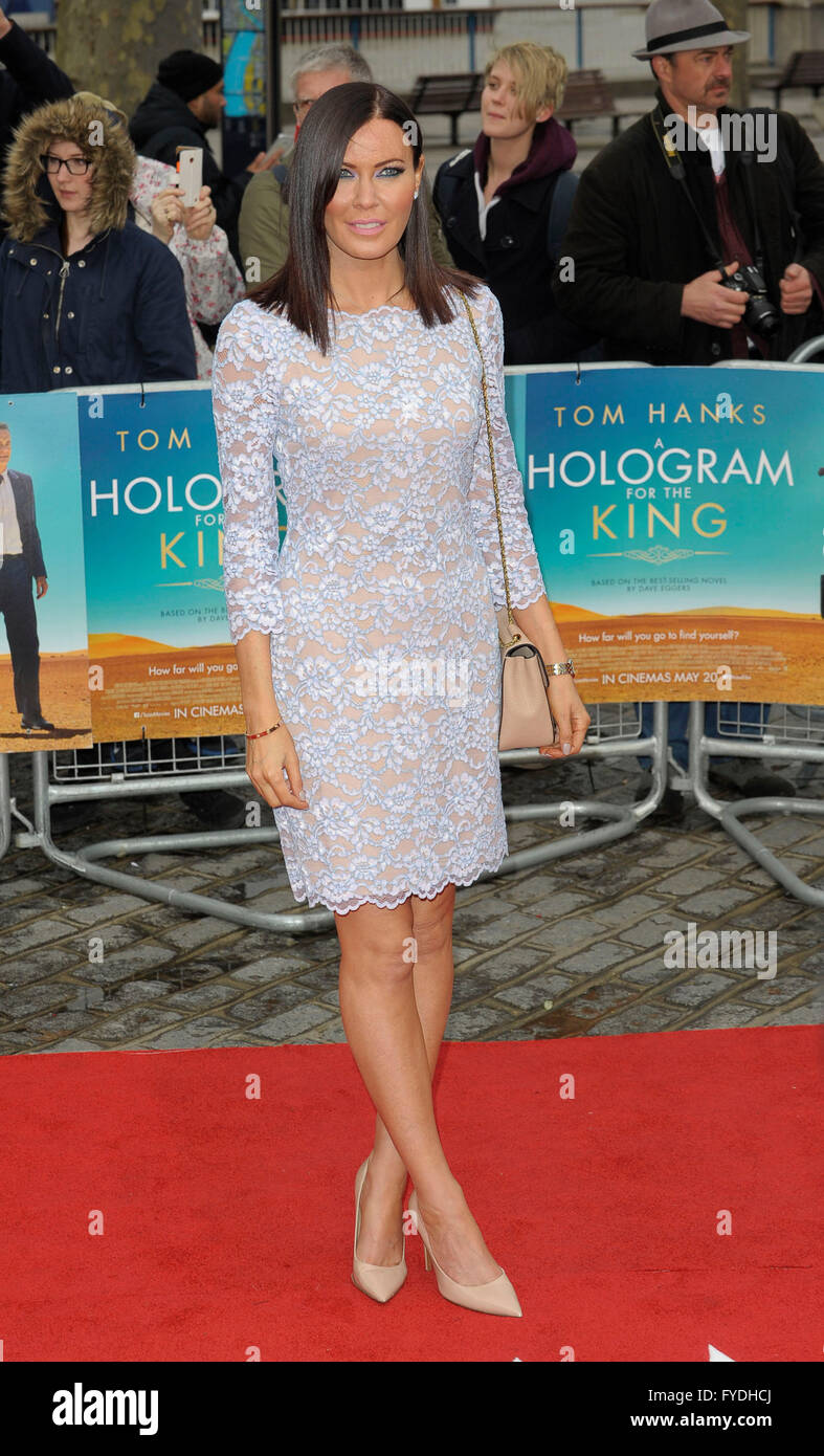 London, UK. 25th Apr, 2016. Linzi Stoppard attending the Premiere of  A HOLOGRAM FOR THE KING at the BFI Southbank - Stock Image