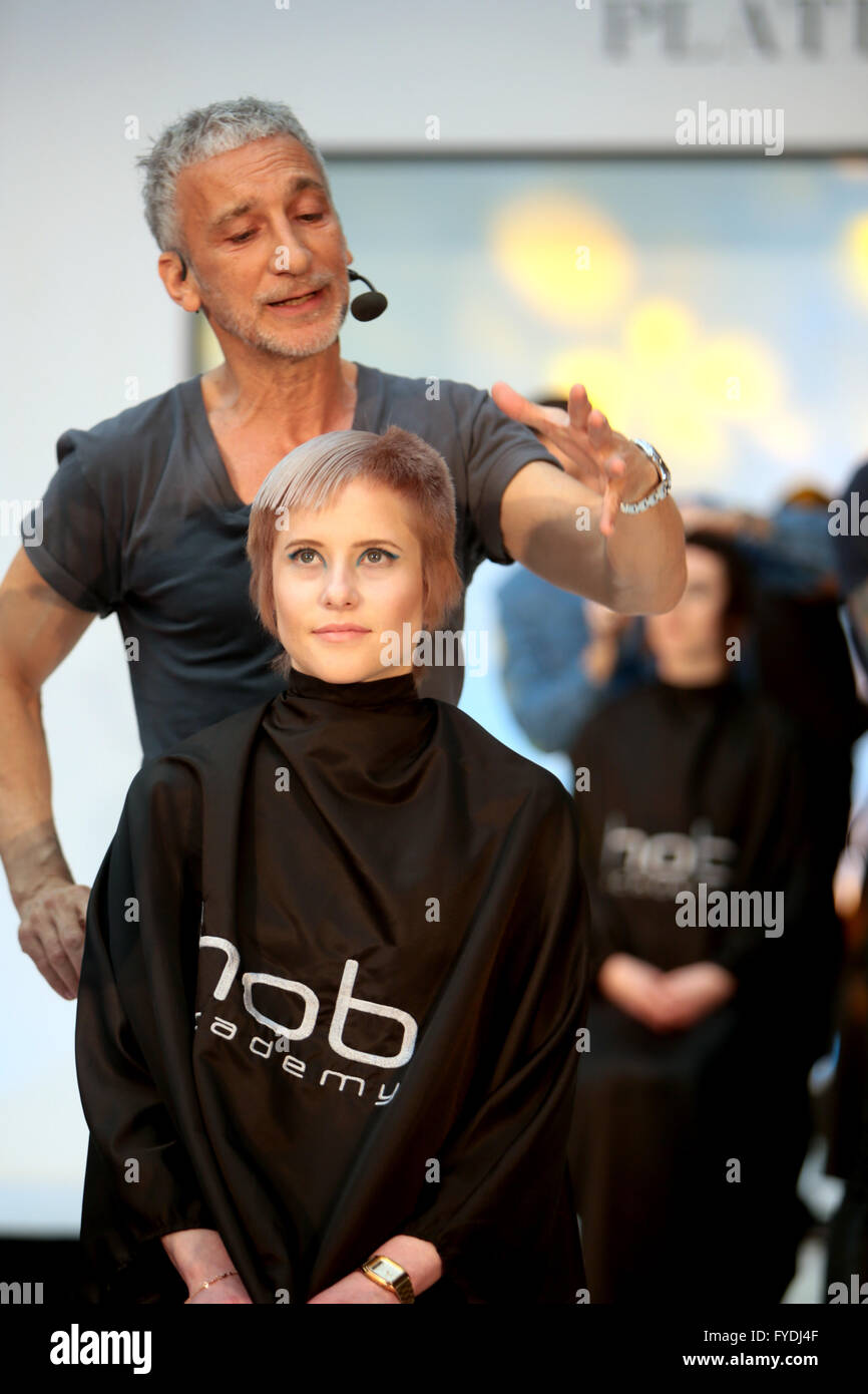 Hair Cut Hair Show High Resolution Stock Photography and Images