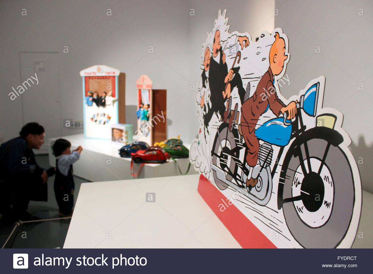 An exhibition ahout The Adventures of Tintin held by Suzhou art gallery and  Belgian art foundation appearred at Suzhou art gallery in Suzhou, Jiangsu,  ...