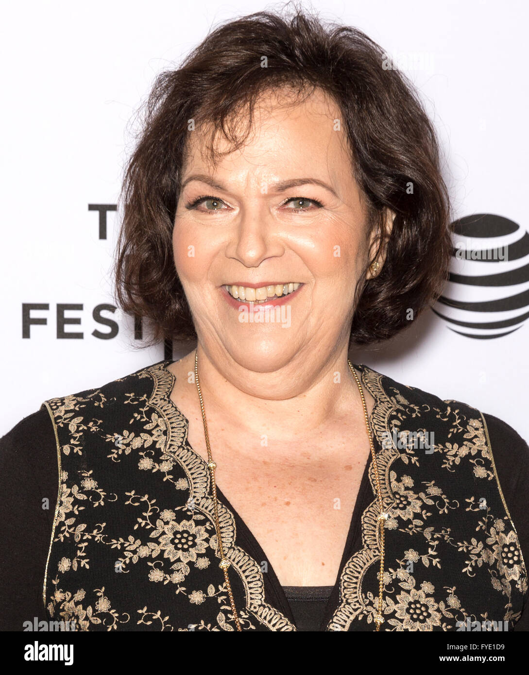 New York City, USA - April 24, 2016: Susan Varon attends the Almost Paris premiere during the 2016 Tribeca Film - Stock Image