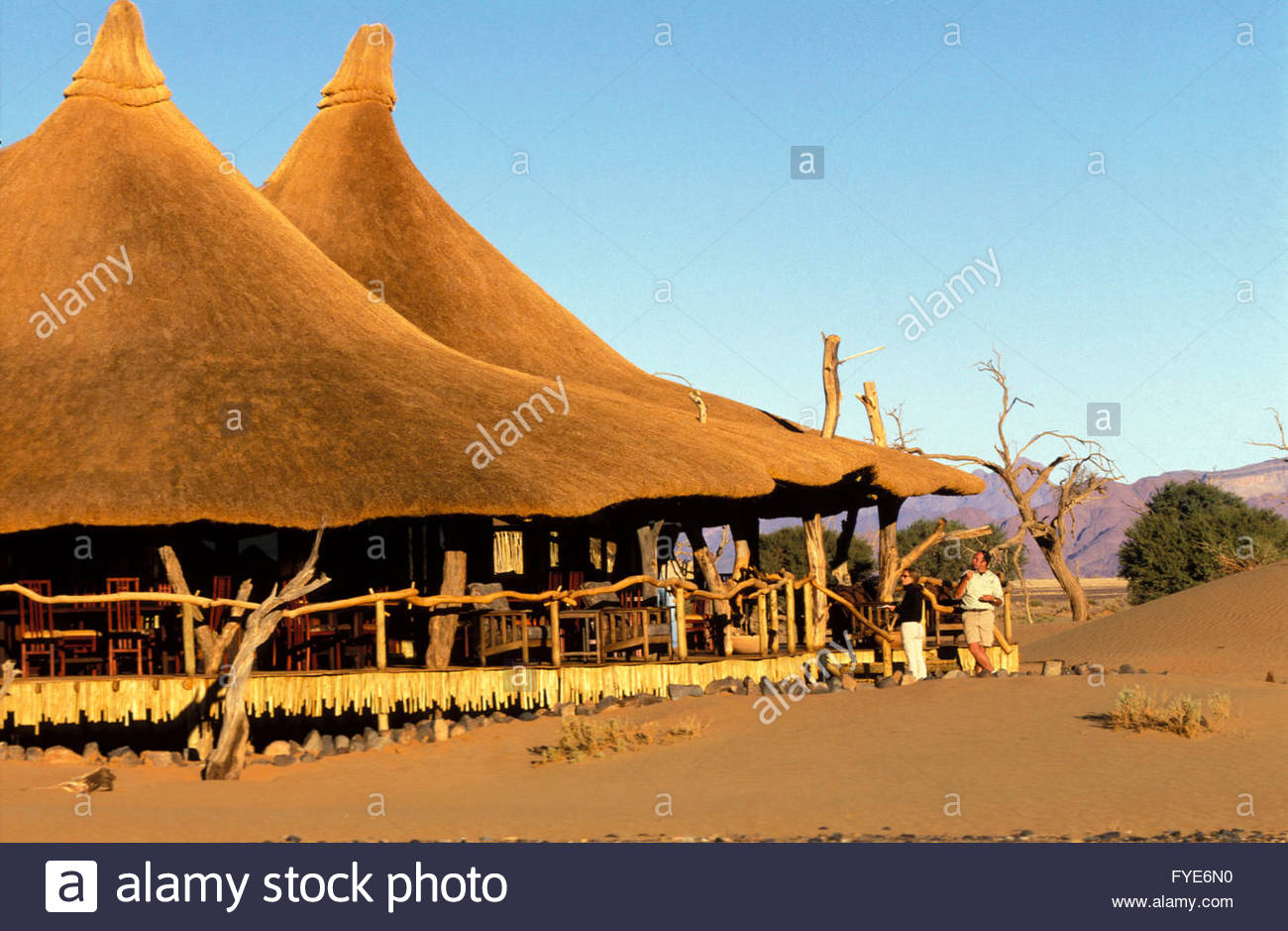 The Little Kulala lodge at Sossusvlei Namibia - Stock Image