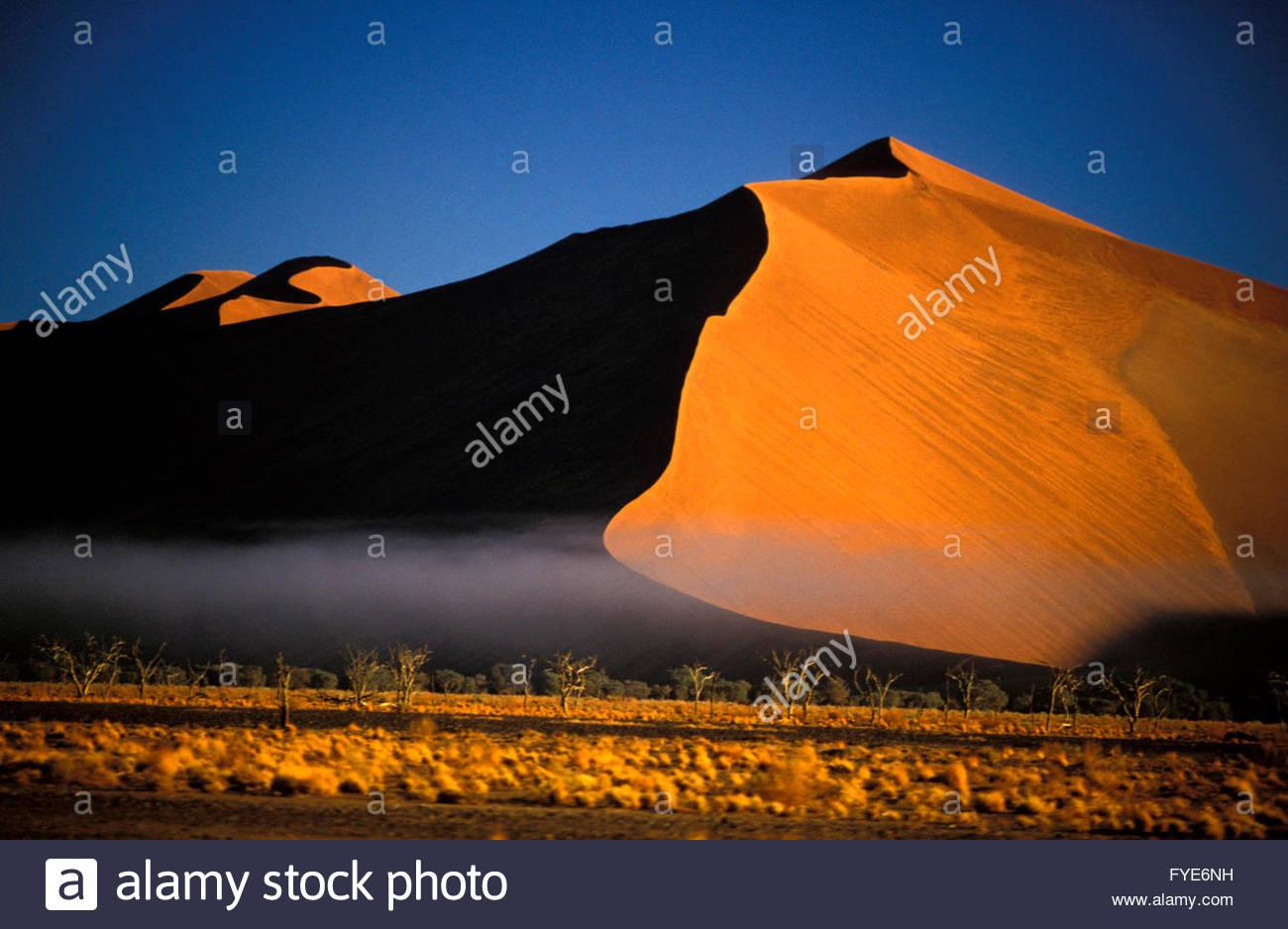 Sand Dunes in Namib Desert Namibia - Stock Image