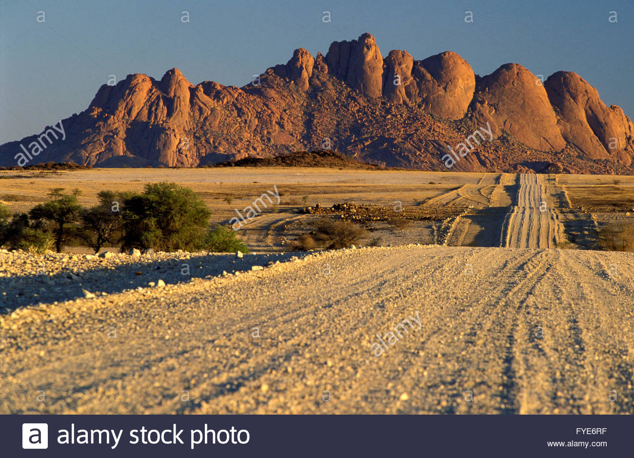 Rock formations in Spitzkoppe Namibia - Stock Image