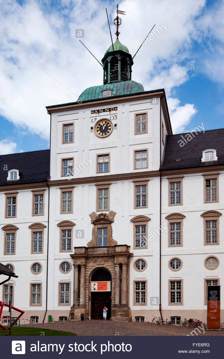 Gottorf Castle in Schleswig, Germany, is a museum and ancestral home of the Holstein-Gottorp branch of the House - Stock Image
