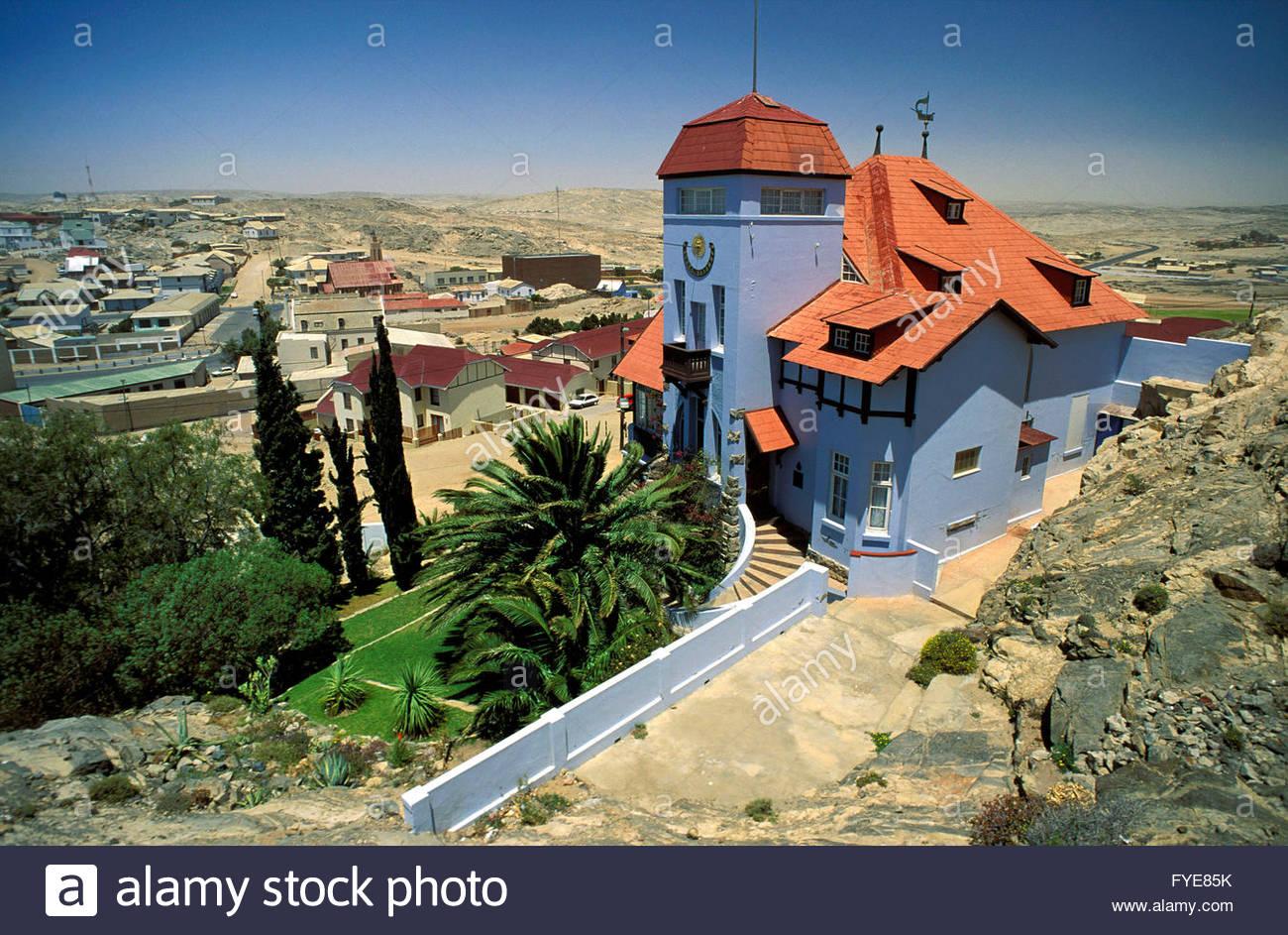 House in Luderitz Namibia. Stock Photo