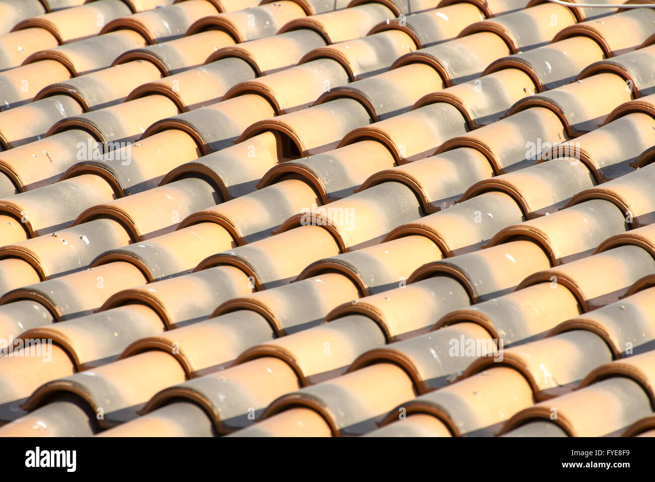 New roof tiles close up detail - Stock Image