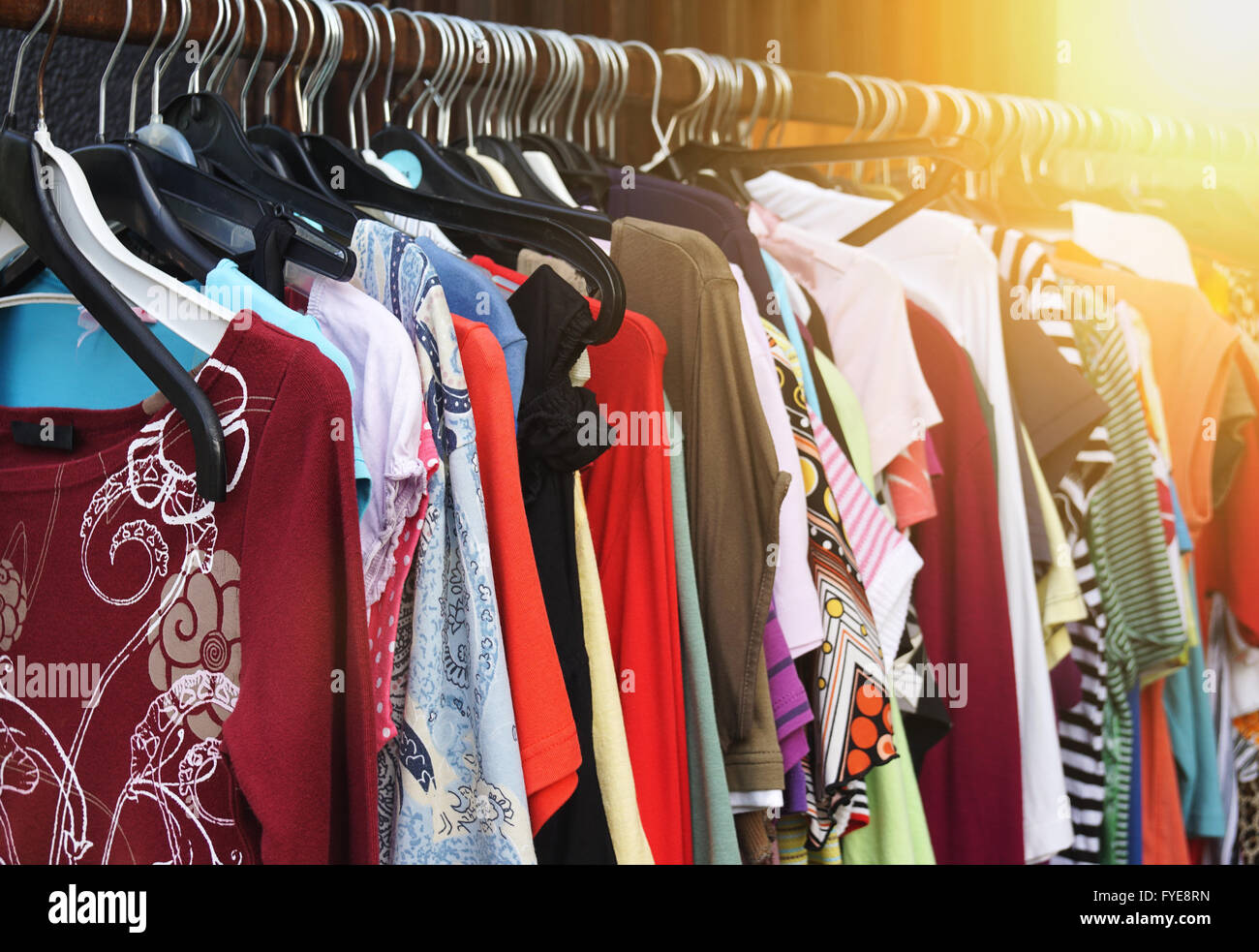 vintage second hand fashion - Stock Image