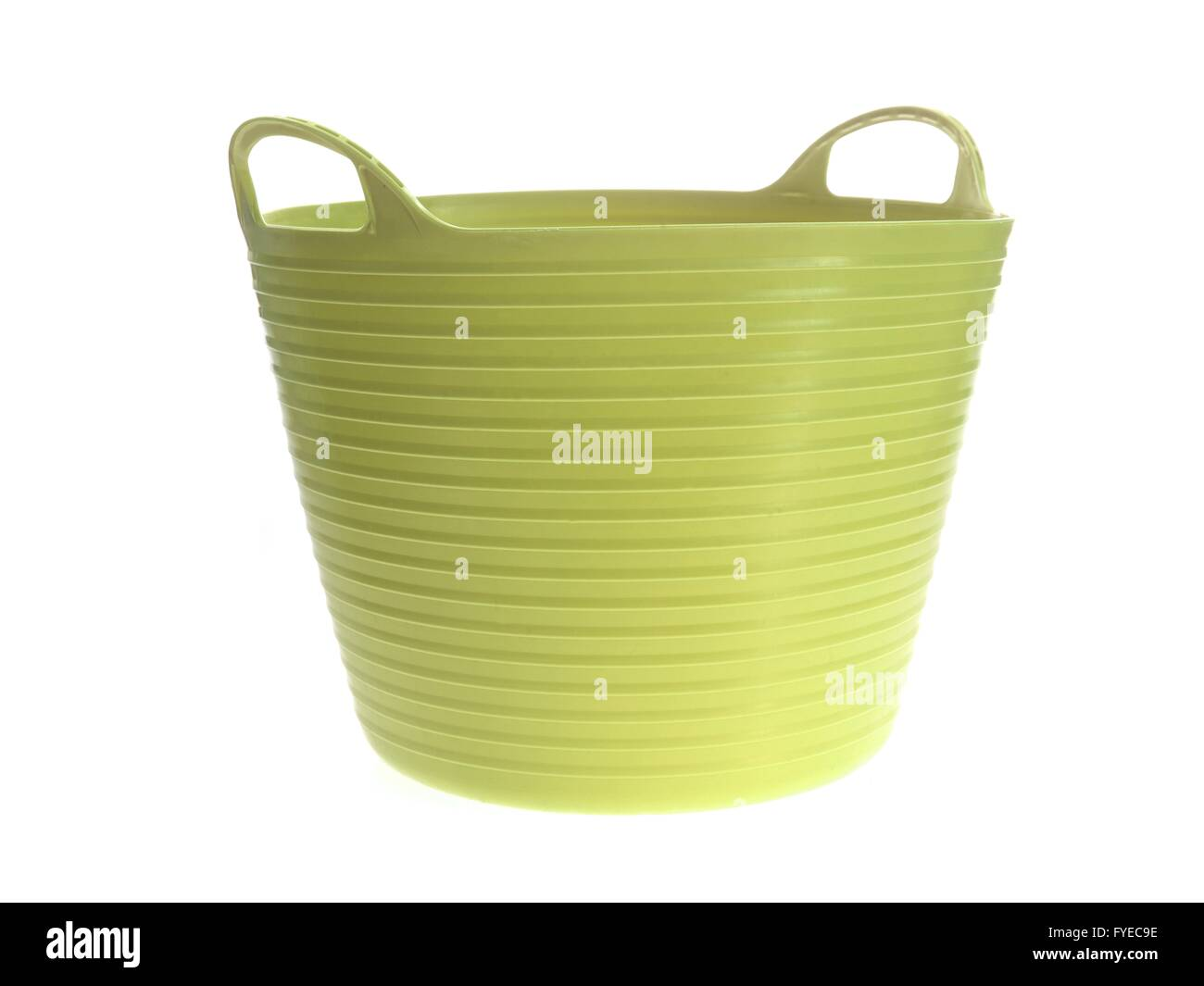 A cleaning bucket isolated against a white background - Stock Image
