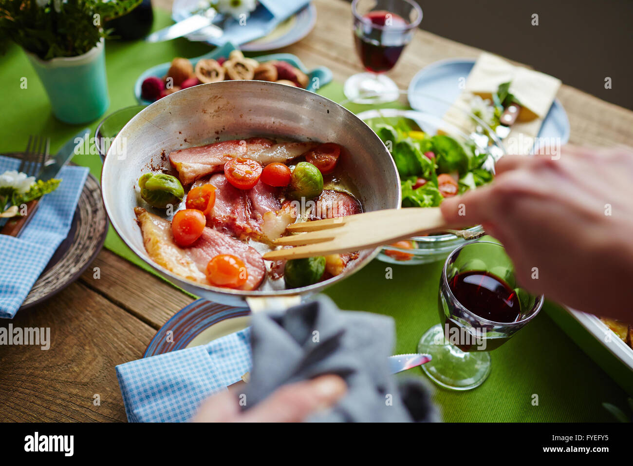 Cooking food - Stock Image