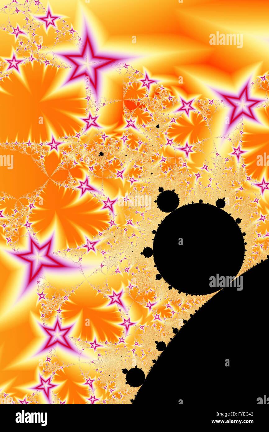 Star Fractal Generated Using A Mandelbrot Set - Stock Image