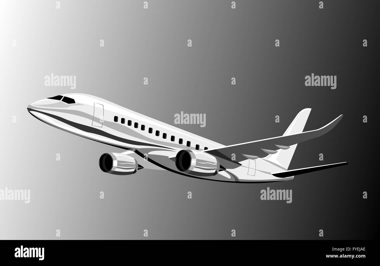 Commercial jet plane - Stock Image