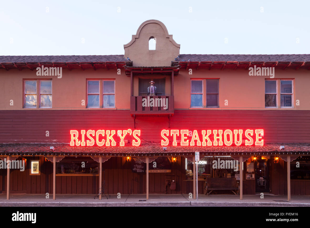 Fort Worth Stockyards Risckys Restaurant Stock Photos Fort