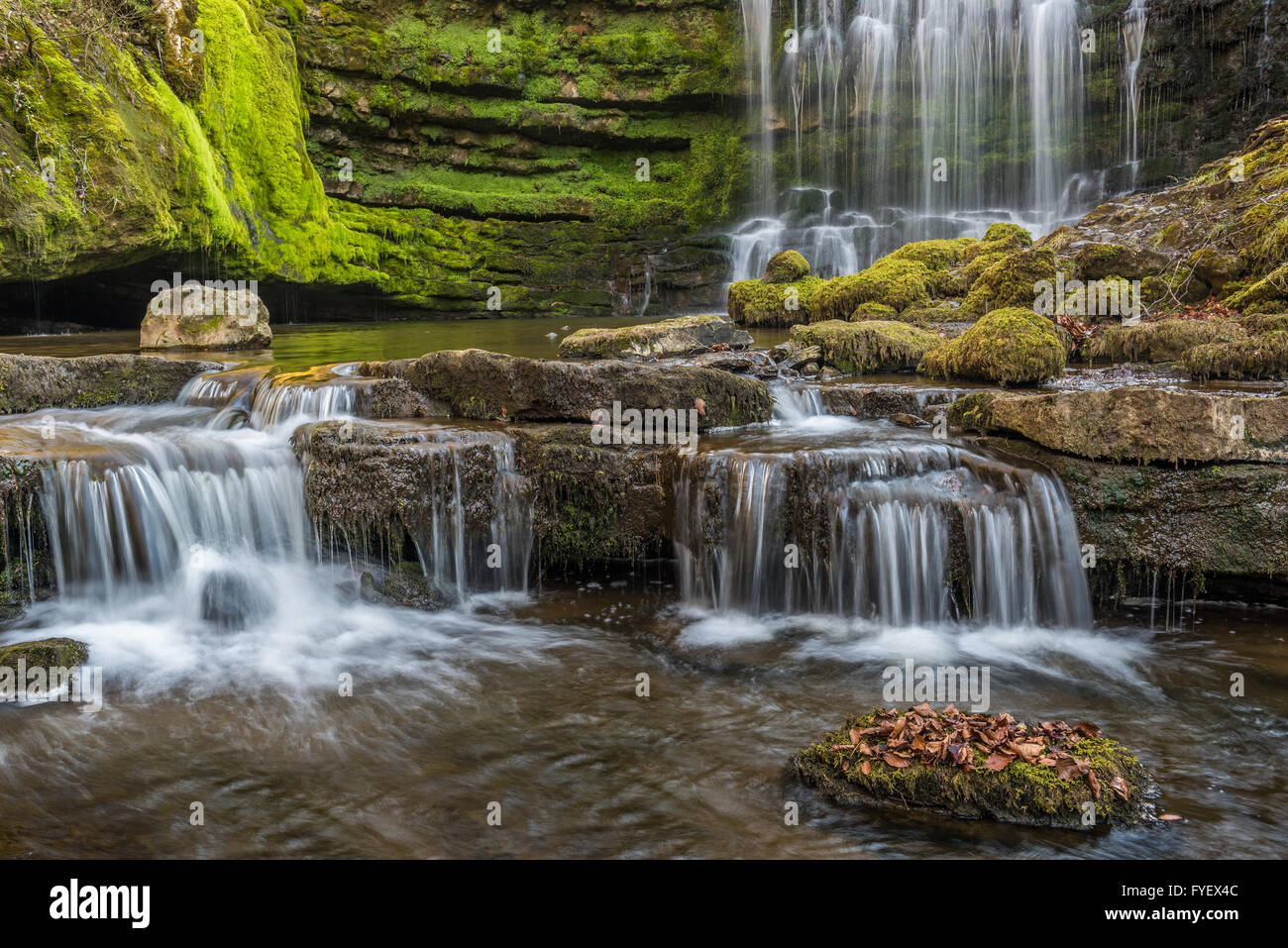 Scalebar Force waterfalls in the Yorkshire Dales near Settle - Stock Image