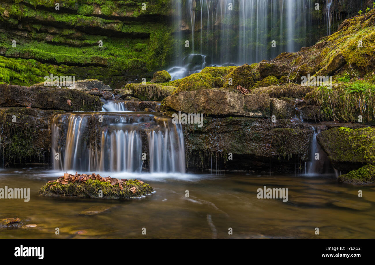 Scalebar Waterfall, located near Settle in the Yorkshire Dales - Stock Image