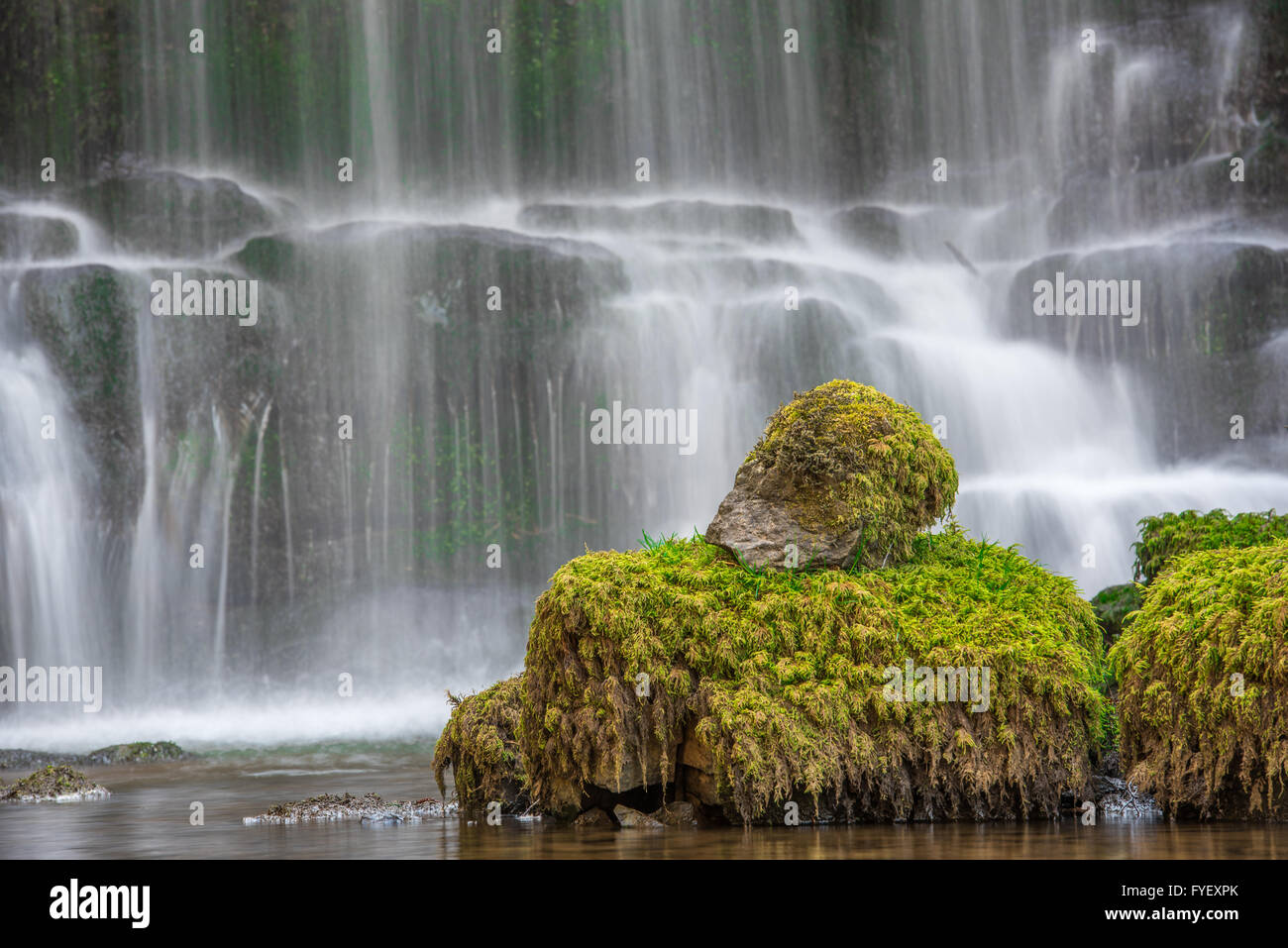 The Scenic Waterfall at Scalebar Force near Settle in Yorkshire - Stock Image