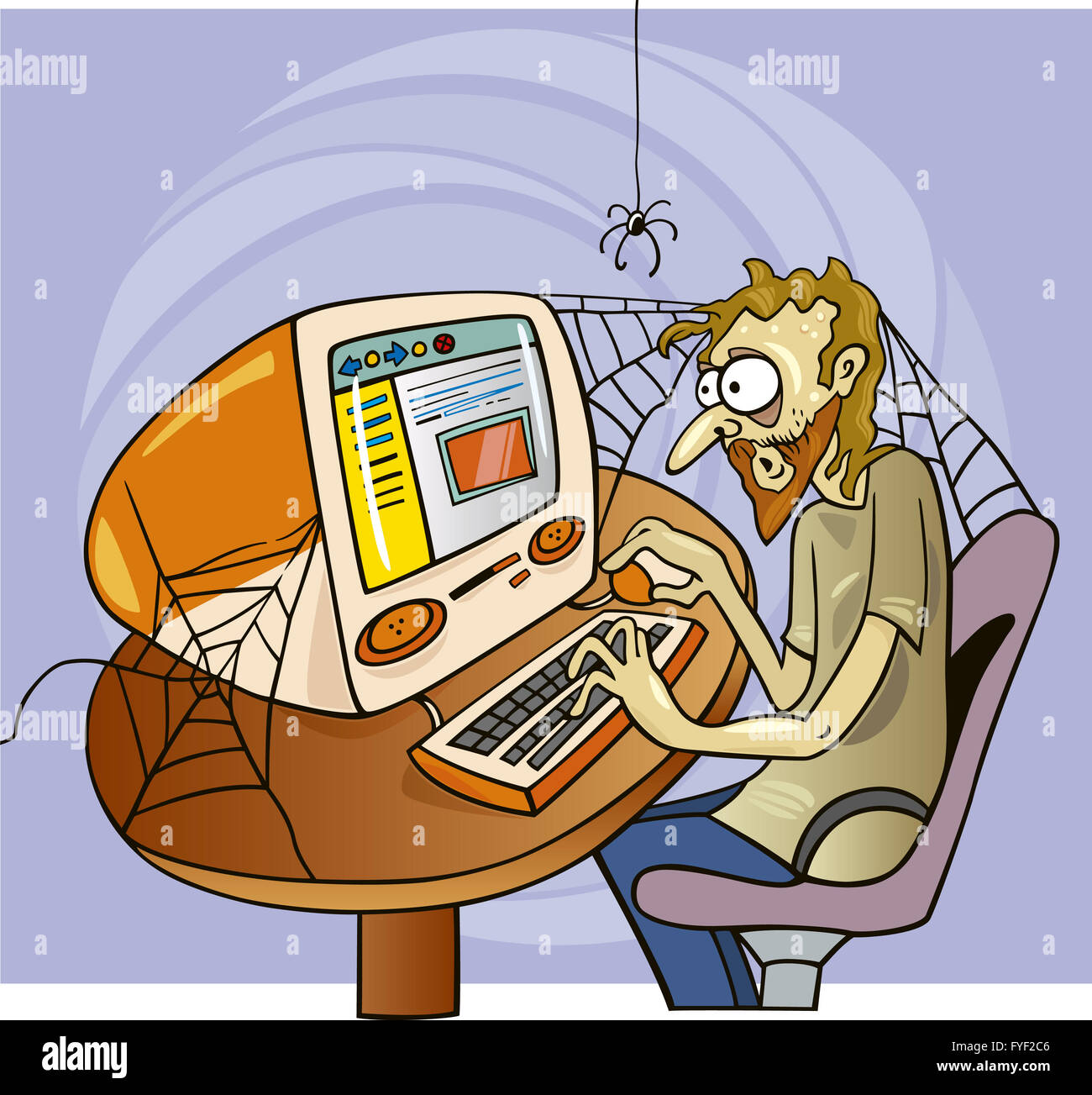 internet maniac - Stock Image