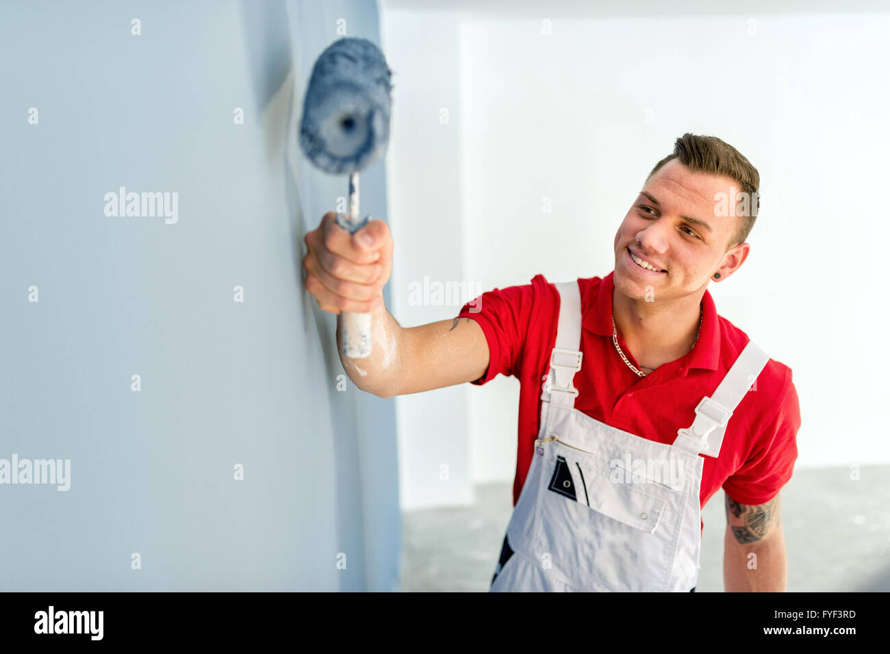 Painter on location - Stock Image
