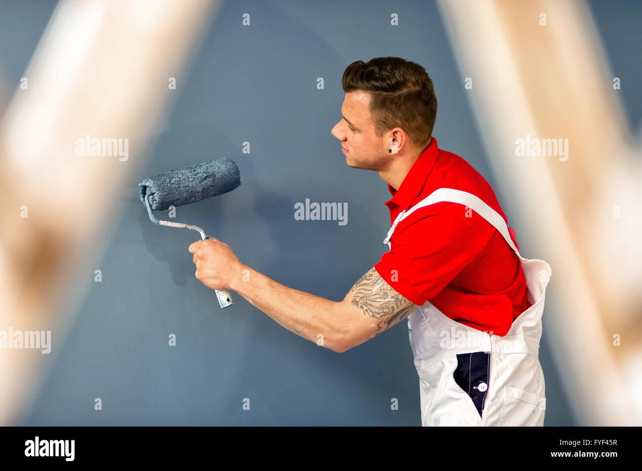 Painter on location - Stock Image