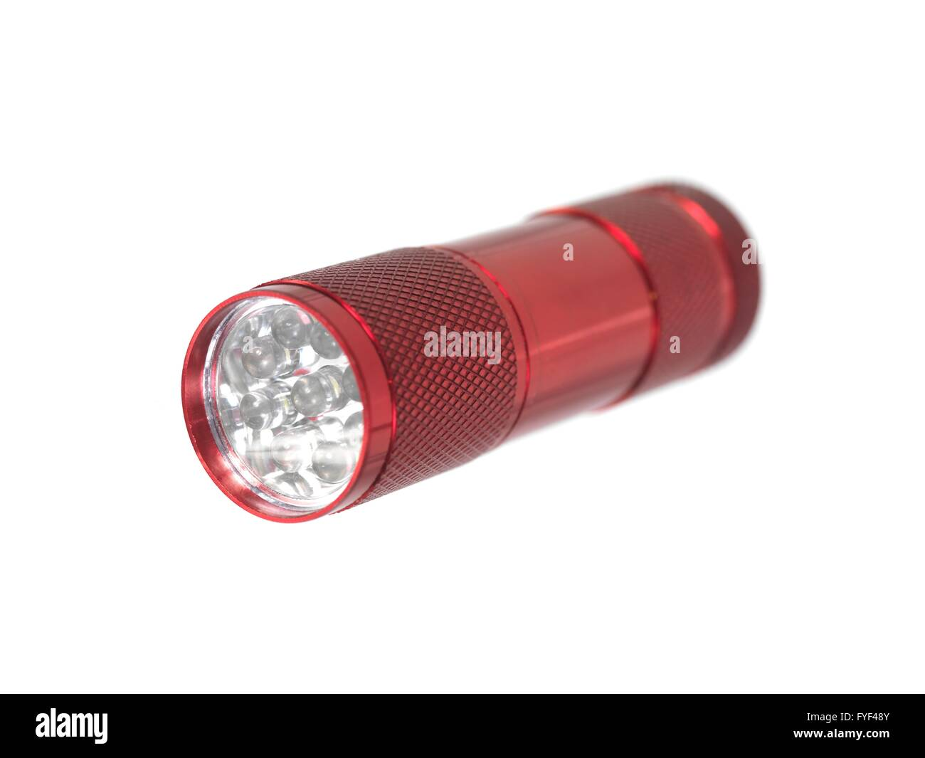 A flash light isolated against a white background - Stock Image