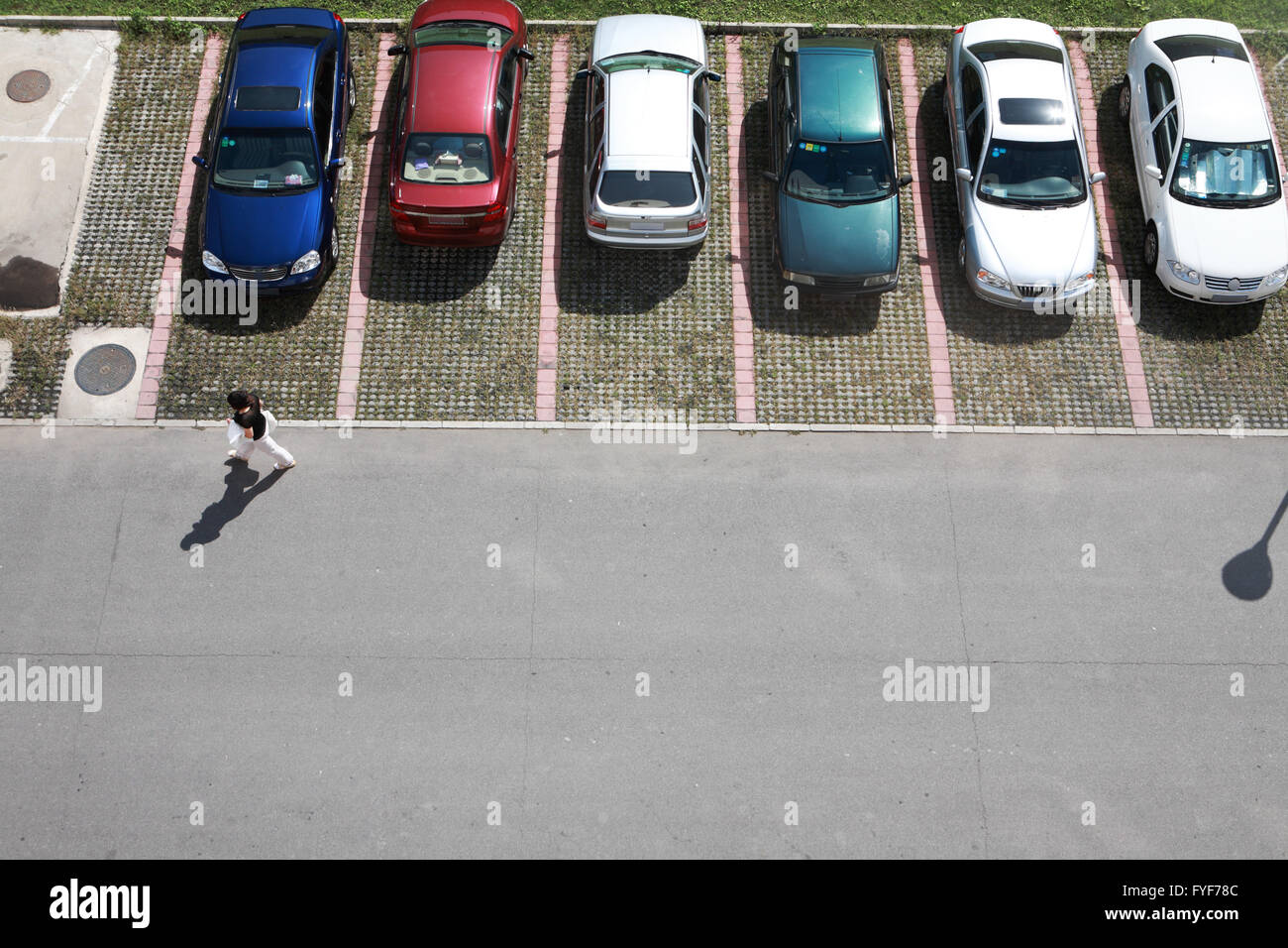 parking of small model cars - Stock Image