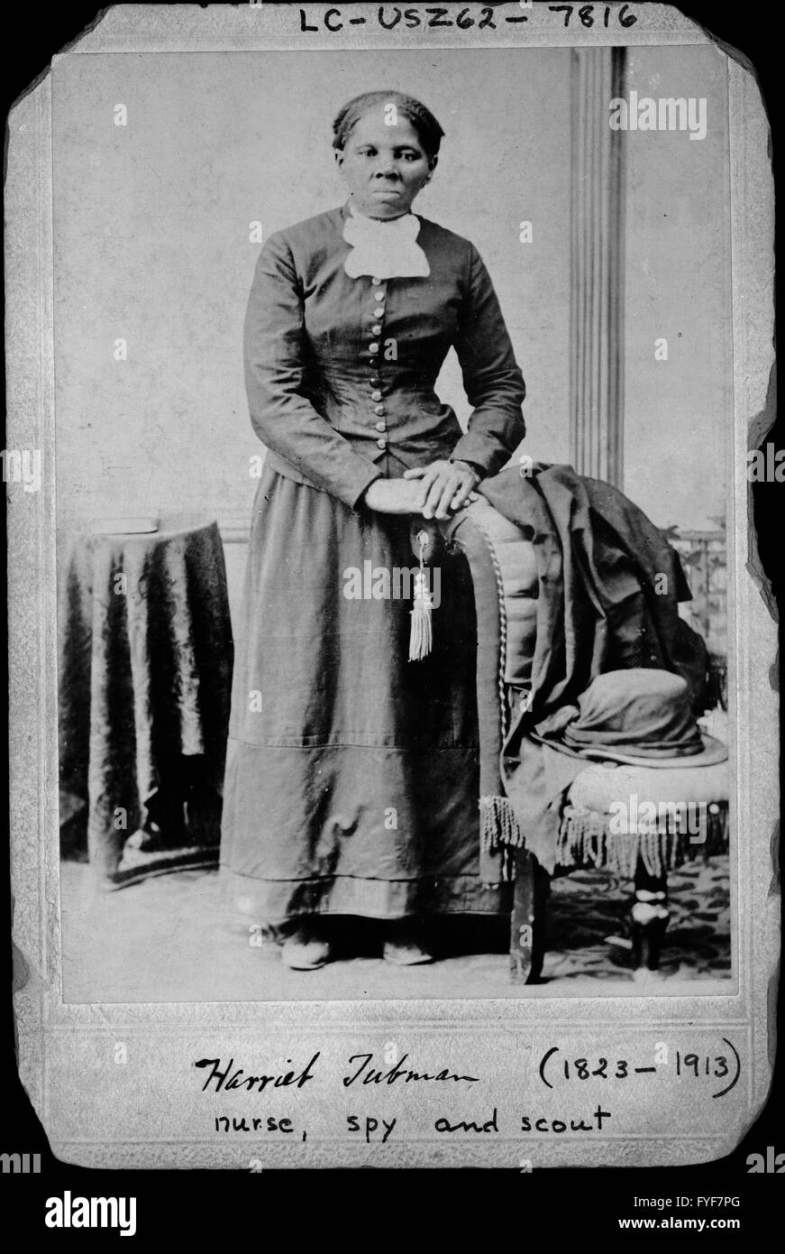 A portrait of Harriet Tubman created between 1860 and 1875 by the photographer H.B. Lindsley from the Library of - Stock Image