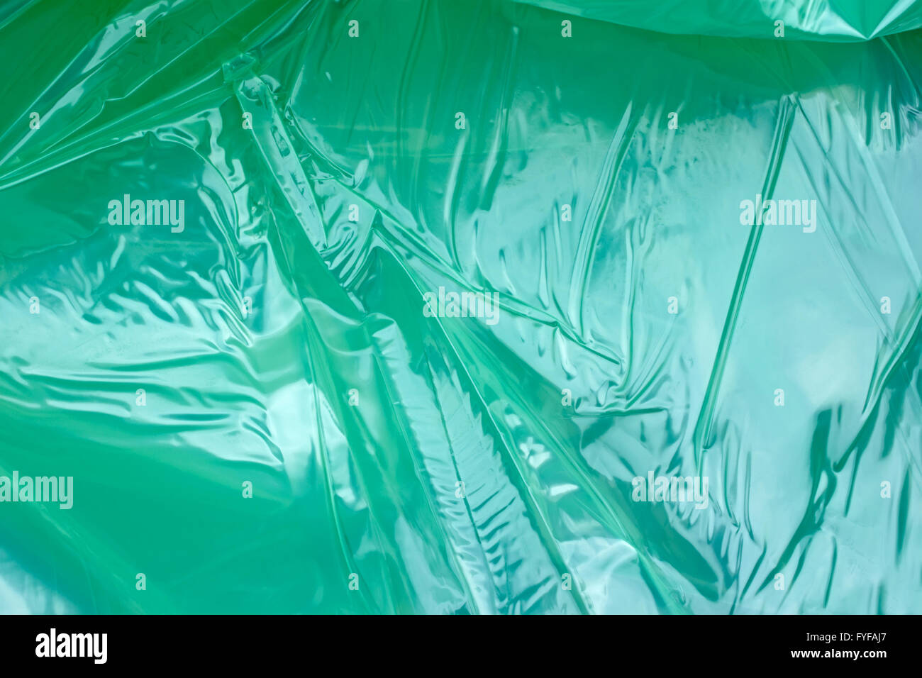 Polyethylene film as background Stock Photo